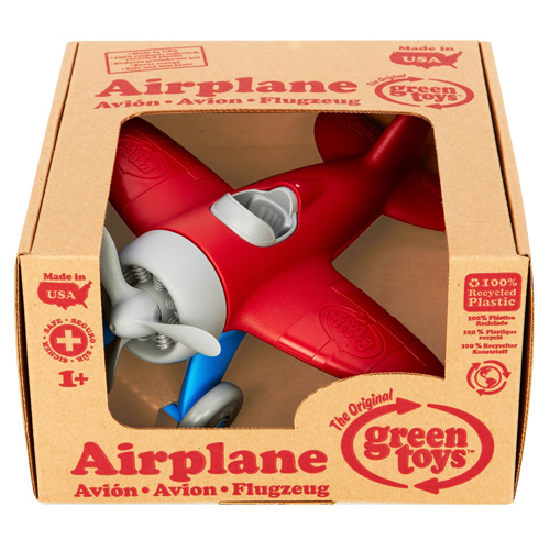 The Original Green Toys Airplane For Ages 1 Plus, Red - 1 Ea